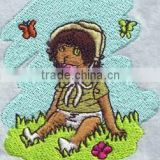 Lovely Customized baby Embroidery patch on felt, High Quality Custom laser cut cartoon Embroidery patch for clothing