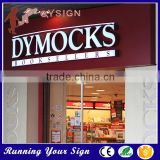 Modern design acrylic letter light up restaurant signs outdoor