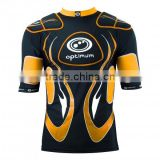 cool Rugby protection padded top American Football pro combat compression gear padded protection wear