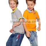 Fashion Design Short Sleeve Boys Polo Shirt Top Quality New Boy T Shirts Baby Shirts Kids Wholesale Clothing