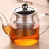 Office Personal Glass Tea Pots with stainless steel infuser Hebei Factory Supplies