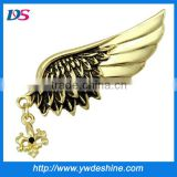 fashion antique rhinestone angels wings brooch factory price customized