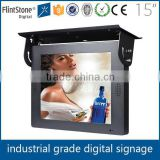 fintstone 15 inch usb drive ceiling mount metal housing bus tv display