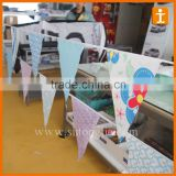 triangle Bunting Full color Printing ,wedding bunting,bunting flag