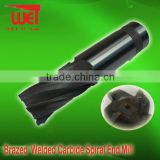 Brazed Welded Carbide Spiral carbide End Mill