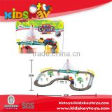 Education toy good quality battery operated toy car,electric railway train plastic toy