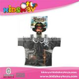 New design kids dress pirate shirt kid clothes dress up games for kids
