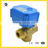 "3 Way brass Electric solenoid control Valve for chilled water 1/4"" 1/2"" 3/4"" 1"" low voltage control"