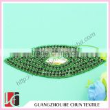 HC-0167 Eye Shape Appliques/iron on Full Crystal Beaded Applique for Banquet Dress