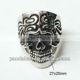Fashion Stainless Steel Halloween Skeleton Skull Jewellery Rings(RJEW-G002-7)