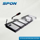 TCP IP paging microphone intercom system