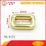 Shiny gold solid metal square-rings buckle with engraved logo for bags accessories for leather goods                                                                                                         Supplier's Choice