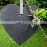 2016 stone heart garden tag slate plant label slate hang tag                                                                         Quality Choice