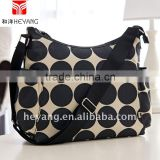 100% Cotton Fabric Name Brand Diaper Bag-Sand Dot Hobo