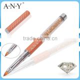 ANY Professional Nail Art 3D Beauty Design Rhinestone 3D Nail Art Brush Nylon Hair