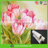Shanghai FLY China supplier frame canvas glossy eco solvent canvas oil painting, glossy cotton canvas roll