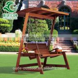 Factory price wood garden swing outdoor wooden hanging chair