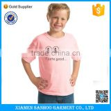 Best Selling Children Tshirt Round Neck Printed Custom Design Kid T Shirt Soft Cotton Blank Various Sizes Tshirt