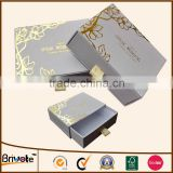 2015 custom gold silver foil logo slide open drawer paper box                                                                         Quality Choice