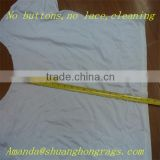White cotton fabric rags for industrial wiping