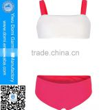Beautiful beach sport children bikini double shoulder young girl kids swimwear