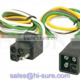 trailer connector 4 pole/way square connector wire harness