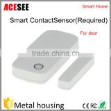 2016 ACESEE home security Smart wifi magnetic contact alarm sensor infrared sensor smart phone Smart IR Sensor for Door SCS100
