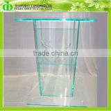 DDL-0012 ISO9001 Chinese Wholesale SGS Test Standard Glass Colored (green Tint) Style Podium