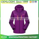 Custom womens sport rain jacket ,outdoor waterproof windbreaker,wholesale windbreaker jacket