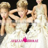 StyleMW0160 New Arrival Organza Crystal Ball Gown Girls Pageant Dresses