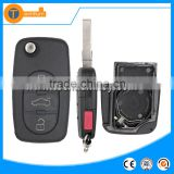 Plastic key with 2032 big battery place and HAA blade 3+1 button car master key for Audi A4 A5 A6 TT q5 q7