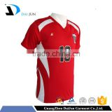 Daijun oem high quality v neck polyester custom printing colorful men full soccer uniform