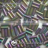 High Quality Fashion JS Glass Seed Beads - 603# Iris Bugles Beads For Garment & Jewelry
