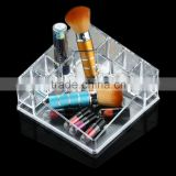Transparent Plastic Cosmetics Storage Box Transparent Cosmetic Accessories Box Jewelry Box Lipstick Display Rack