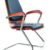 Office reception chair band wood chair steel foot conference chair AH-175