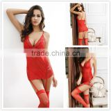 New arrival hot design elegant women sexy lingerie babydoll first night sexy dress