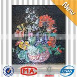 LJ JY-JH-FV05 Vase Flowers Artistic Glass Mosaic Tile Picture Hallway Wall Murals Backsplash Tiles Lowes
