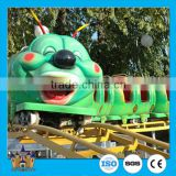 2016 China kiddie rides backyard used big caterpillar mini cheap roller coaster for sale