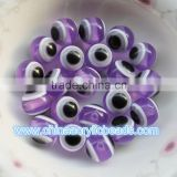 fancy wholesale round assorted 8/10/12MM acrylic resin round chunky ball bead striped charm for jewelry making craft DIY