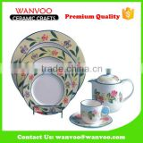 16 Pcs New Design Ceramic Dinner Set With Round Plates Dishs Cups