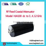 Coaxial Fixed Attenuators with BNC, N, SMA or TNC Type Male to Female Connector Model HJA100