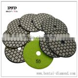 "4"" Dry Diamond Polishing Pads for granite Marble Concrete Stone Granite 50-3000 Grits"