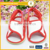 Red simple new design baby barefoot doll sandals