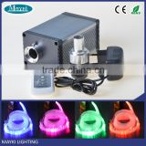 12 Volt suitable 5W RGB LED+ twinkle white wheel fiber optic projector light engine for tiny house decoration