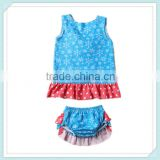 baby bloomers sets summer swing back top sets indoor fashion children clothing girl set summer girl wear flower cotton tank tops