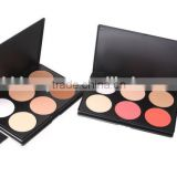 Hot selling 6colours face powder makeup for ladies, 6 pieces Pressed Powder,Foundation Palette