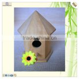 cheap light craft hexagonal body cone roof birdhouse