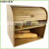 Bamboo kitchenware--bread box and canister set Homex-BSCI