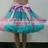 Boutique Multicolor Chiffon Baby Pettiskirt With Ruffle Baby Pettiskirt Party Dress Tutu