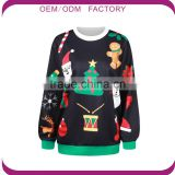 Christmas Sweaters Custom Womens Christmas Hoodies Digital Printing Christmas Jumpers wholesale